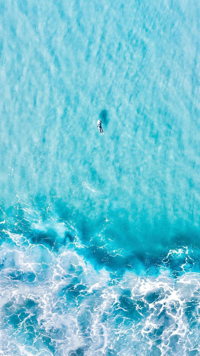 water drone image