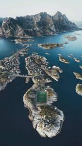 Lennart Soccer Field Drone Image