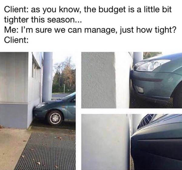 meme for photography budget