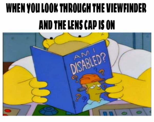 Lens cap photographer relatable meme