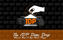 WK13 Fantasy Football Waiver Wire IDP Dime Drop And Bye-Week Plays