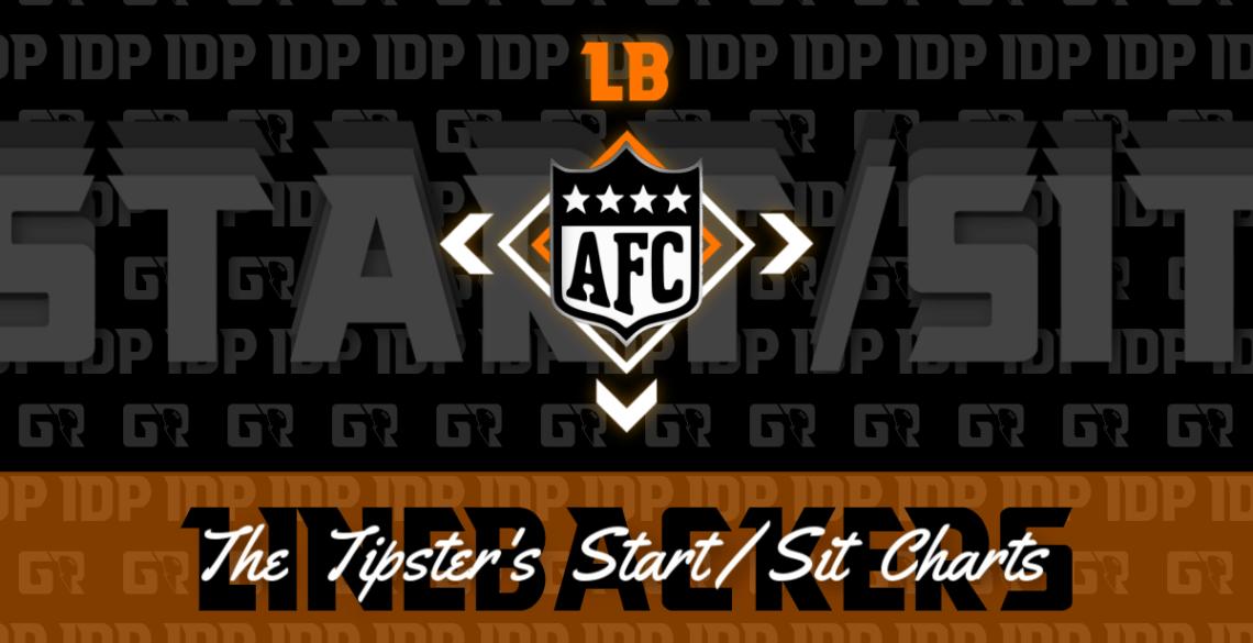 Fantasy Football's AFC Linebacker Championship WK16 Start/Sit Chart