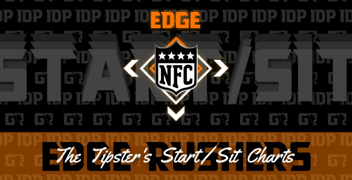 WK15 Fantasy Football Ranking NFC Edge Rusher IDP Start/Sit Chart