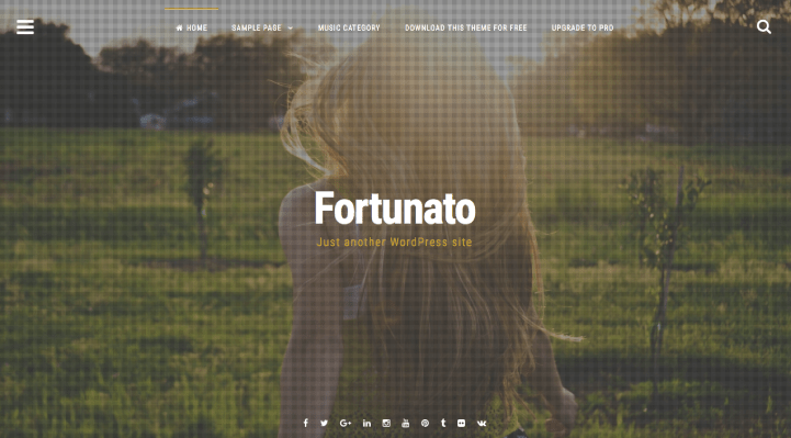 Fortunato WordPress Theme Screenshot