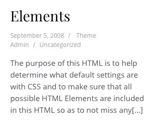 Oblique WordPress Theme Typography