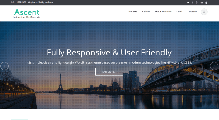 Ascent WordPress Theme Screenshot