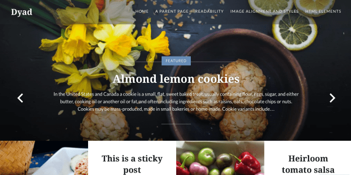 Dyad WordPress Theme Screenshot