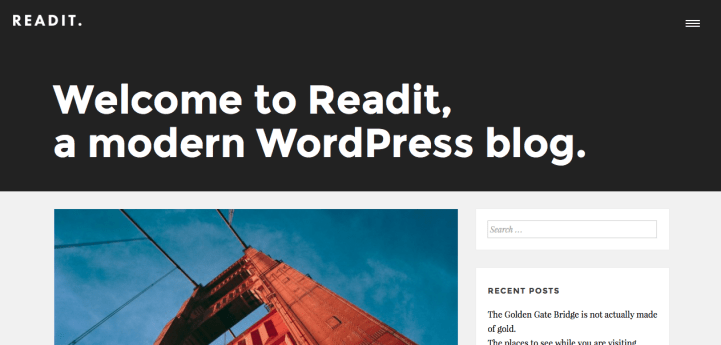 Readit WordPress Theme Screenshot