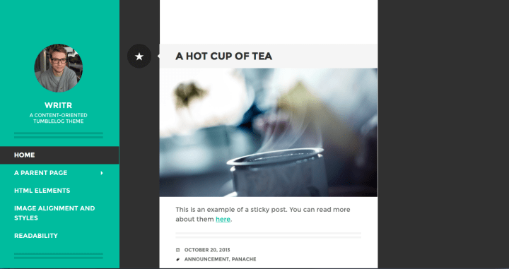 Writr WordPress Theme Screenshot