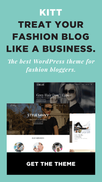Kitt WordPress Theme For Fashion Blogs Ad
