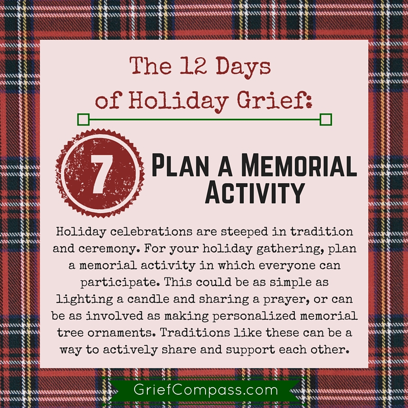 Holiday grief help in 12 days