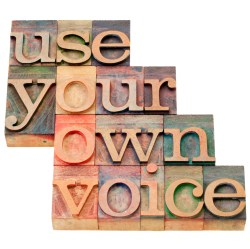 use your own voice