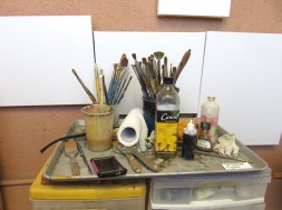 I used this image for an earlier photo challenge that dealt with composition of geometrical shapes. I said then that I love the blend of organization and wildness. A pretty compostition for a still life.