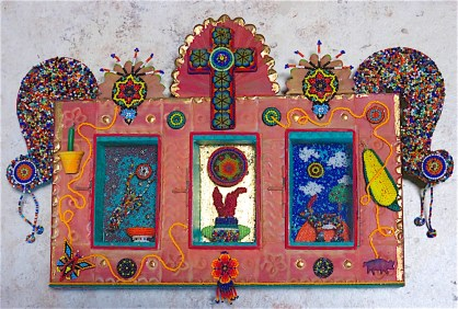 and Huichol. In working with their symbols, I was tryng to understand their faith, not necessarily adopt it.