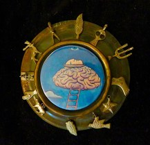 """Picture brooch: """"Creative Mind"""""""