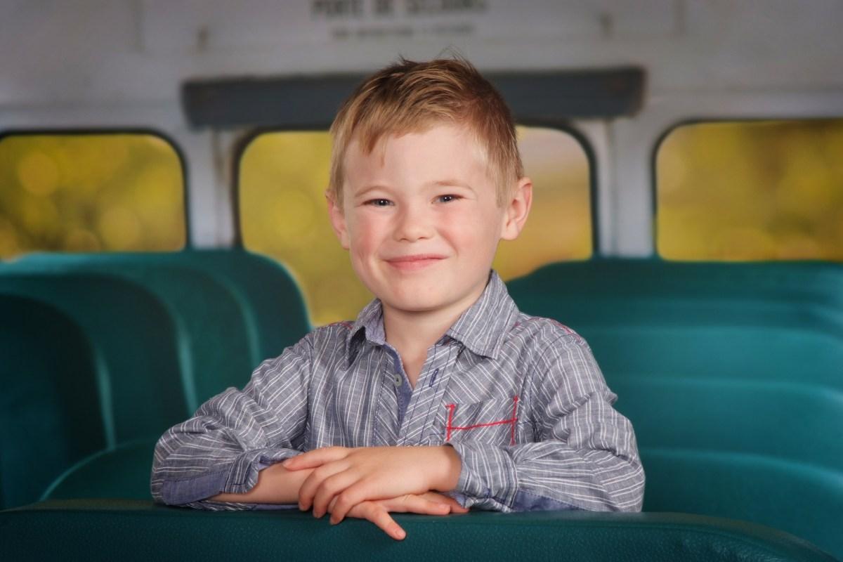 Zackaël Flintoff - École le Prélude 2019 Orléans (Photomania) - environ 1 mois avant son décès - Zackaël sourit un peu trop