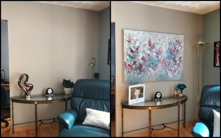 Before and After - Without and with artwork from Vé Boisvert