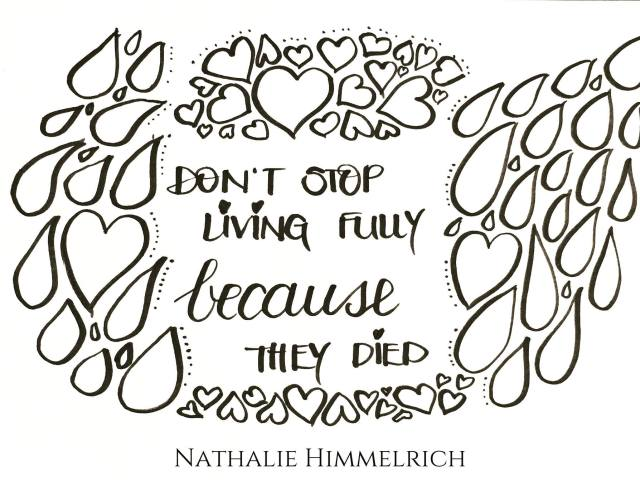 Living fully - Grief Quote by Nathalie Himmelrich