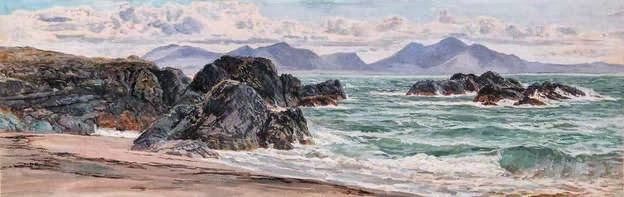 Frederick William Hayes The Rivals from Llanddwyn(c1884