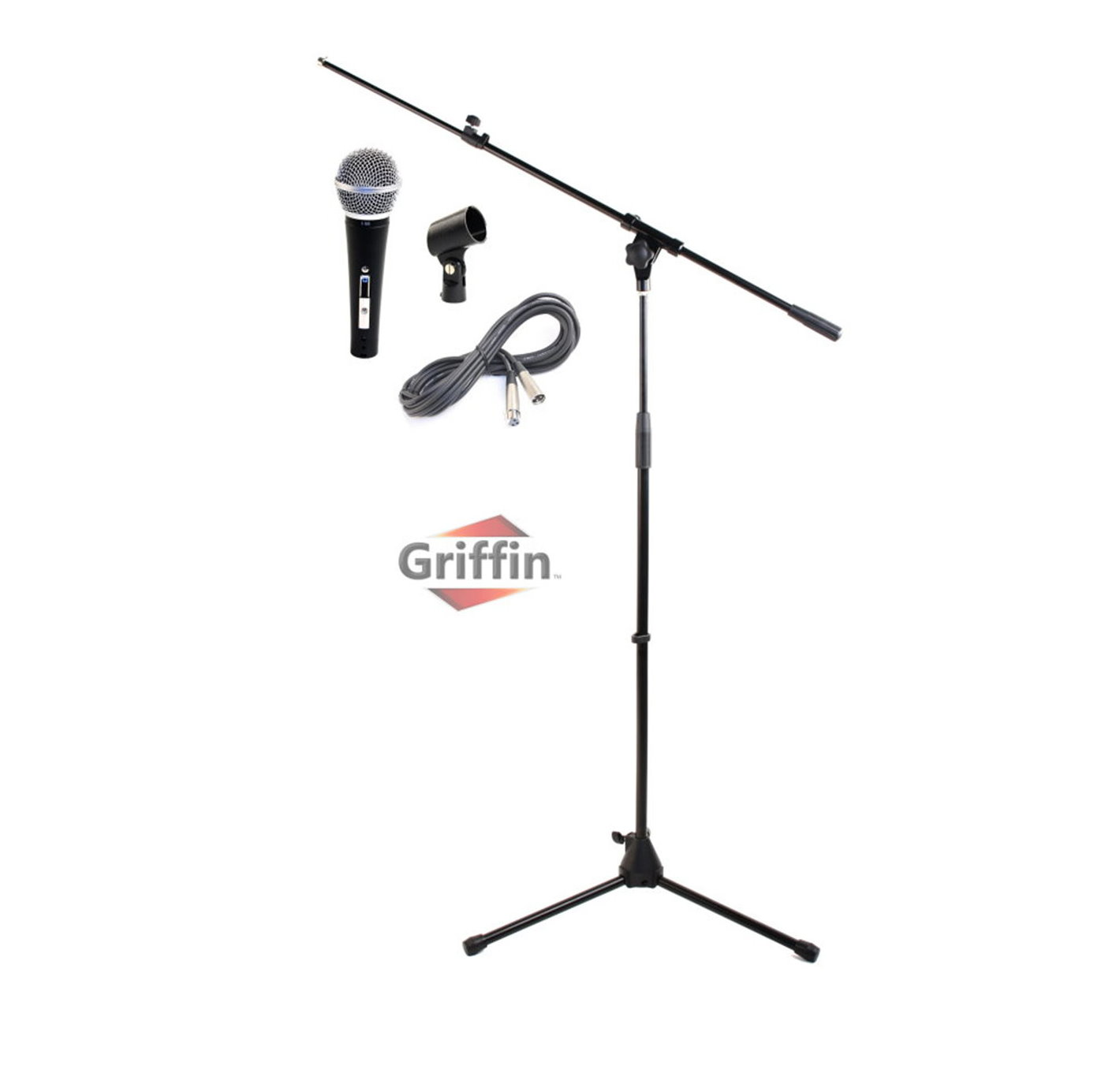 Microphone Boom Stand Package By Griffin Telescoping Arm