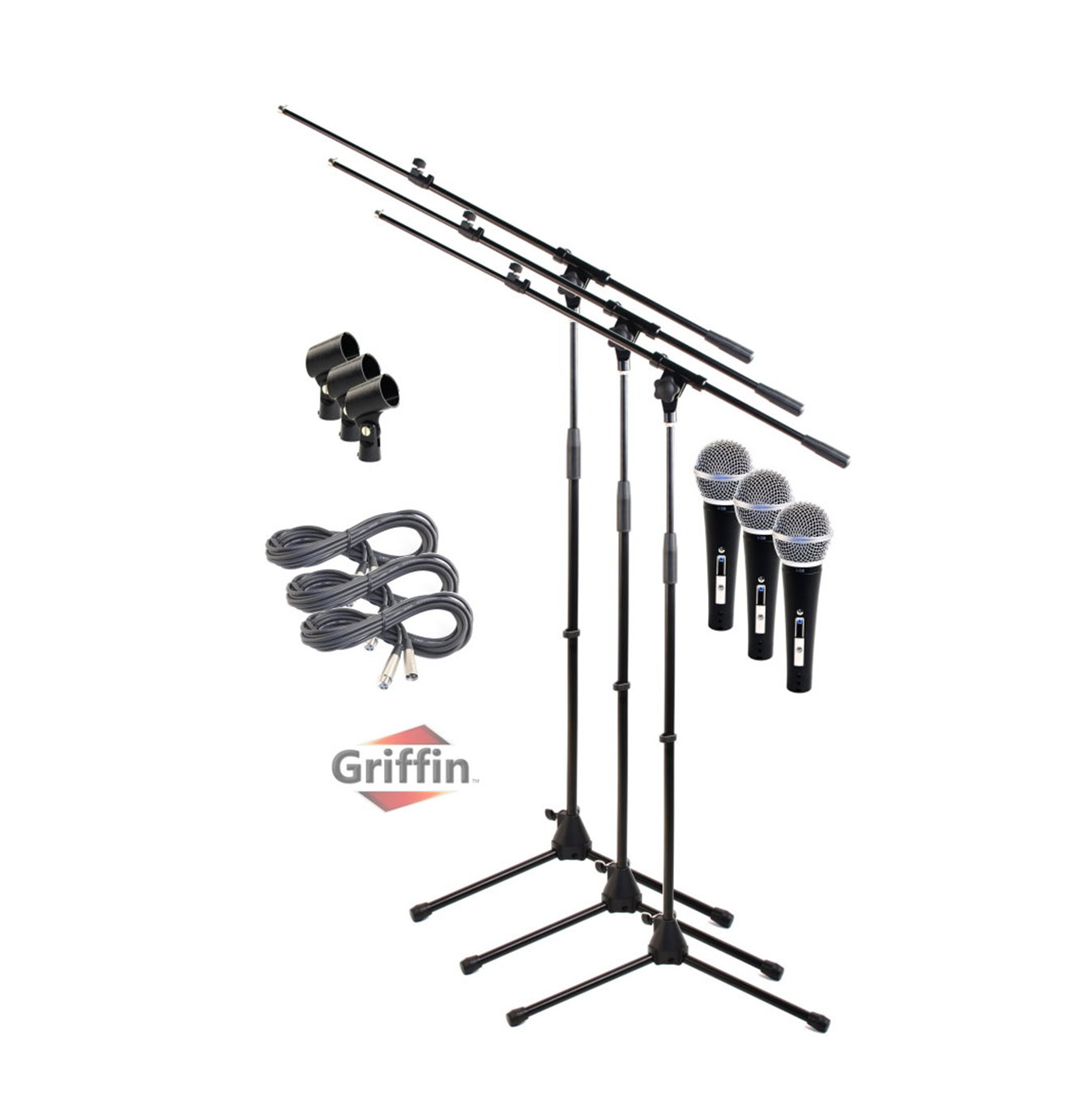 Telescoping Microphone Boom Stand 3 Pack By Griffin