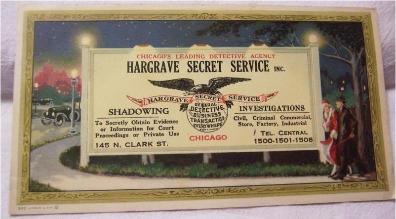 History of Hargrave Secret Service (3/6)