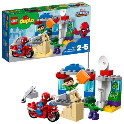 LEGO Duplo Spider-Man and Hulk Building Blocks