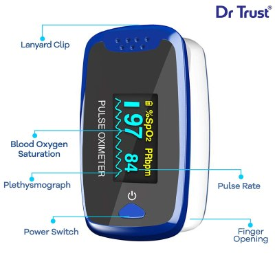 Dr Trust (USA) Finger Tip Pulse Oximeter – 209 (Blue)