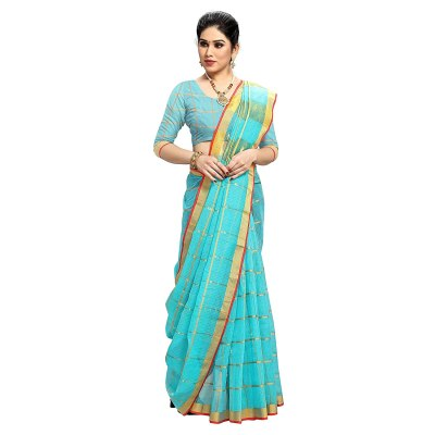 Sidhidata Textile Women's Kota Doria Cotton Saree