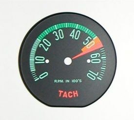 1960-1961 Corvette Tach Face