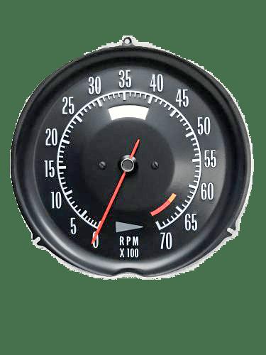 72-74 corvette tachometer 6500 redline