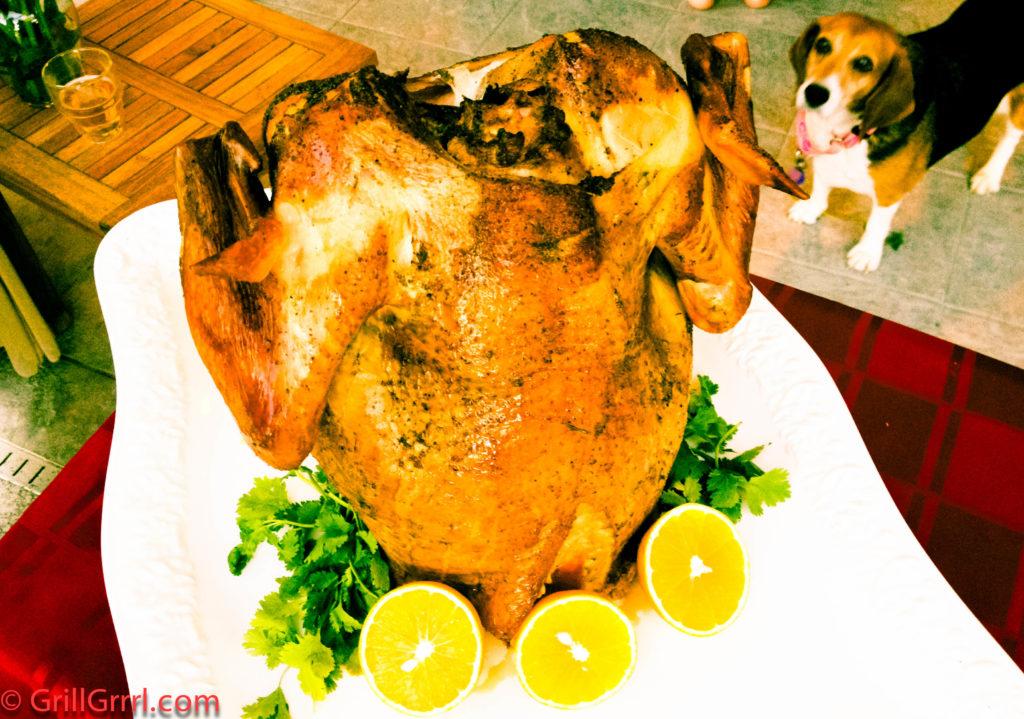 beer can turkey, sittin turkey steamer, turkey on the big green egg