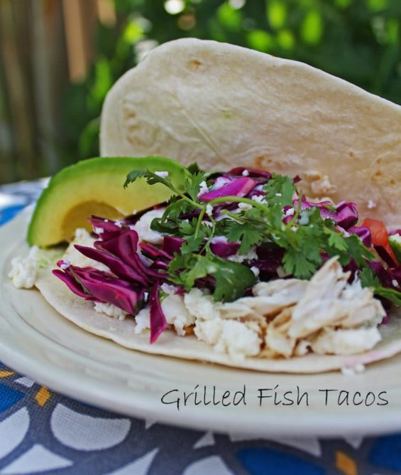 Mahi Mahi Tacos with Mexican Crema and lime infused cabbage slaw.