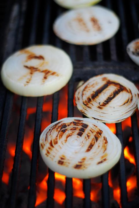 I love onions on the grill- they get sweet and smokey!