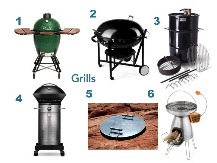 2015 gift guide: big green egg, ranch kettle, pit barrel cooker, fuego grill, mojo griddle, bioliste stove