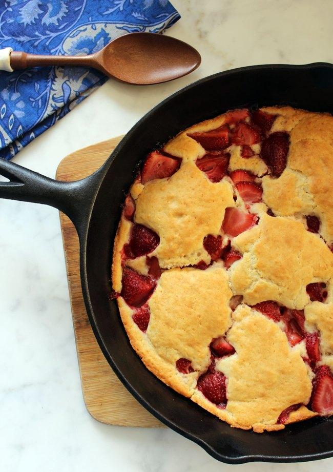 Cast Iron Strawberry Shortcake | Photo + Recipe Contributed by Michelle Lara