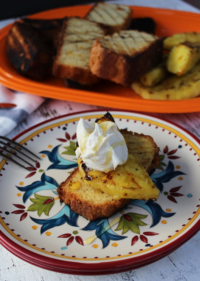 Grilled Pineapple Pound Cake | Recipe & Photo by Michelle Lara