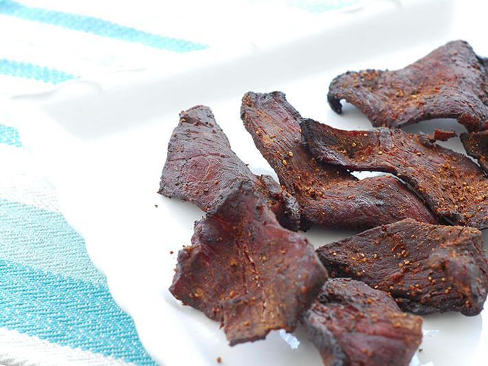beef jerky on the pit barrel cooker
