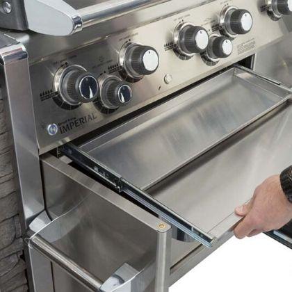 Broil King Imperial XLS parim integreeritav gaasigrill grilliguru köögisaar kööginurk väliköök rasvasahtel
