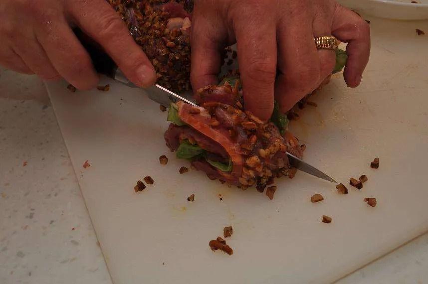 Bacon Tenderloin Pinwheels - 26 - Slicing