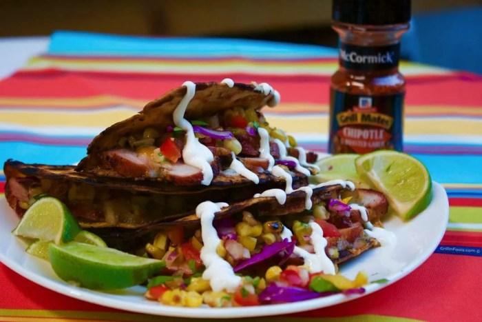 Chipotle Pork Tacos with Lime Sour Cream - 37