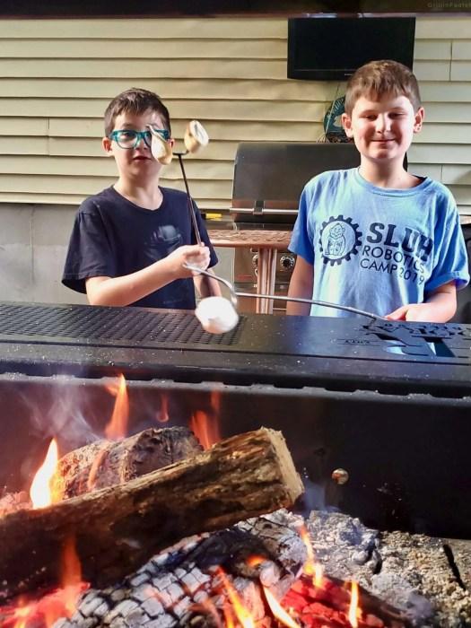 My sons roasting marshmallows