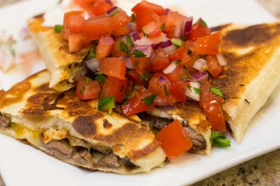 Steak Quesadillas with Fresh Pico de Gallo