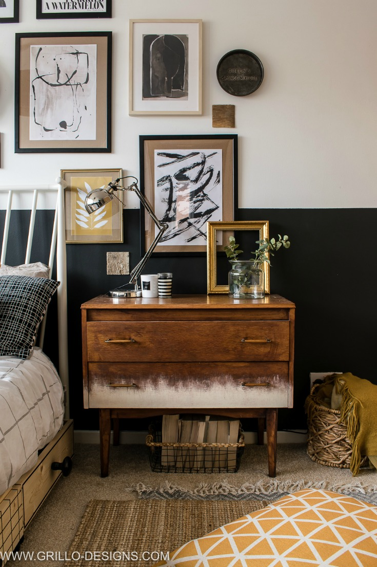 Eclectic Modern Vintage Style Bedroom Makeover Grillo Designs Www Grillo Designs Com