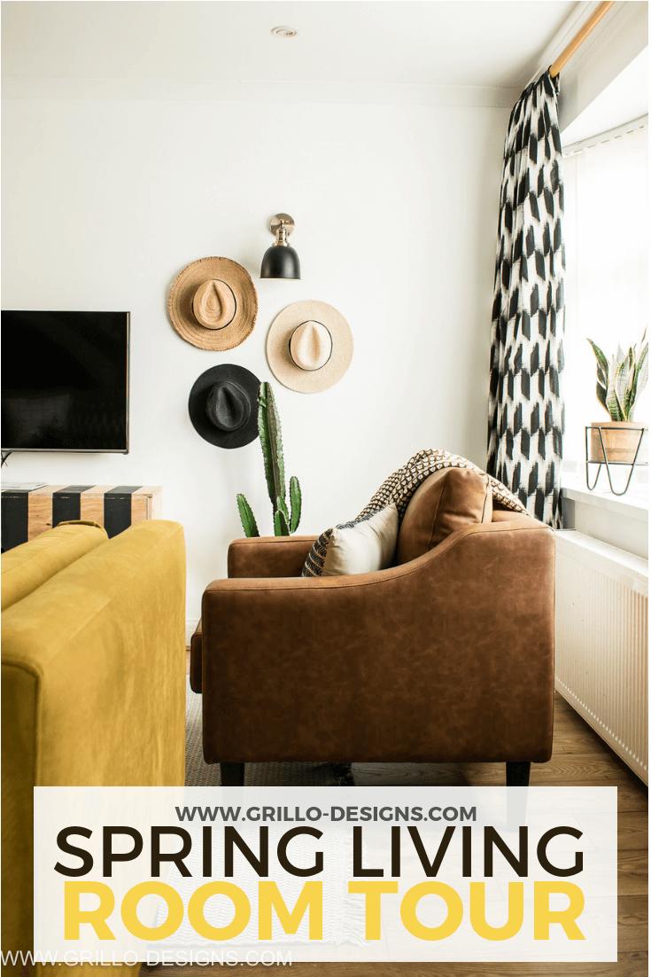 Boho Spring Living Room Tour With Argos Home Grillo Designs