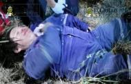 Un motociclista ebrio, choca contra un muro y se lesiona, en el periférico