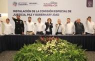 Instalan la Comisión Especial de Paz , Justicia y Gobernabilidad