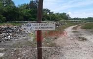 Ejidatarios clausuran el basurero de Cansahcab y le quitan el terreno a la Comuna (VÍDEO)