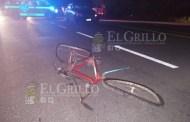 Grave un ciclista que atravesó la carretera sin precaución y lo atropellaron