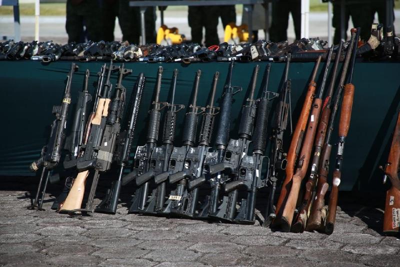Yucatán particpa en el aseguramiento y destrucción de casi 400 armas de fuego